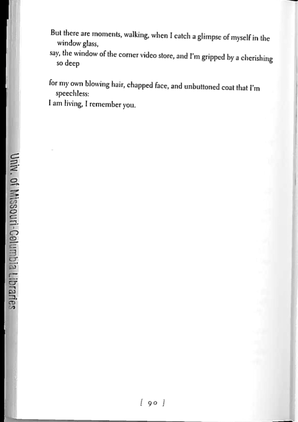 Image 7. From What the Living Do, copyright © 1998 by Marie Howexv