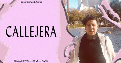 "April 20th, 6pm: ""CALLEJERA"" a multi-media performance by Jose Richard Aviles"